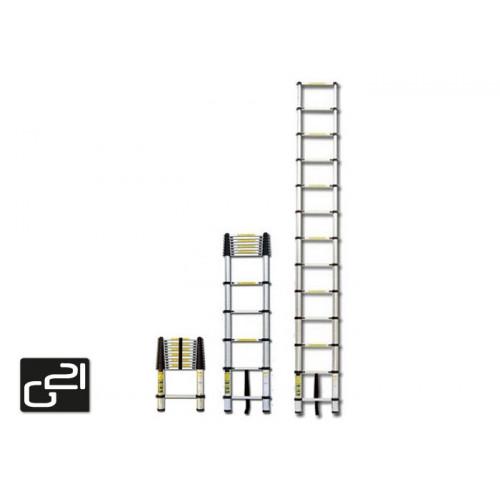 Teleskopický žebřík G21 GA-TZ7-2M hliníkový + DÁREK dle vlastního výběru !