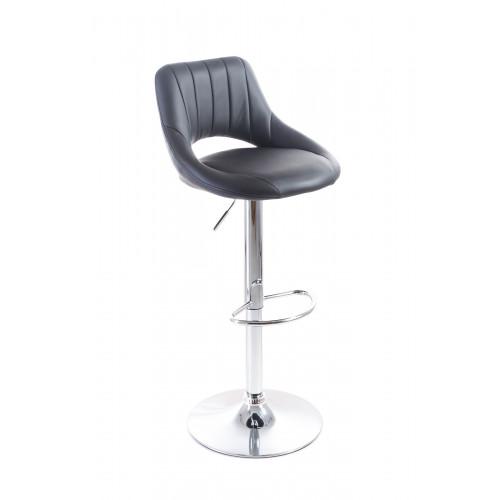 G21 Aletra black, Barová židle koženková, prošívaná, černá