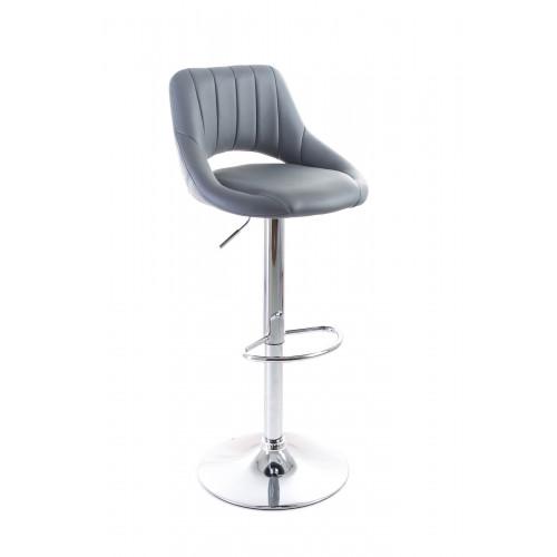 G21 Aletra grey, Barová židle koženková, prošívaná, šedá