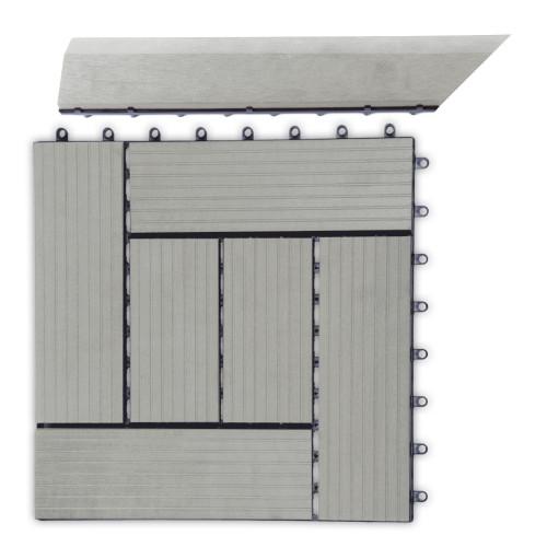 G21 Přechodová lišta pro WPC dlaždice Incana, 38,5x7,5 cm rohová (levá)