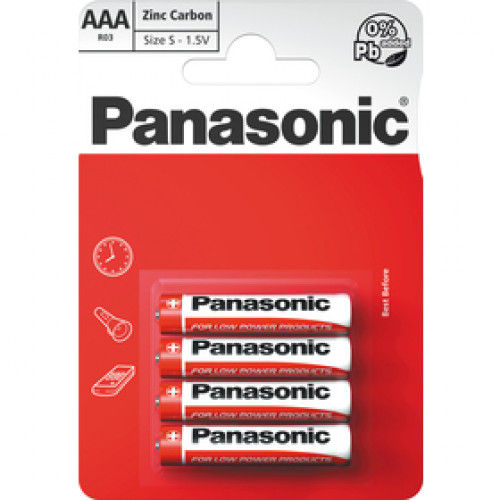 PANASONIC R03 4BP AAA Red zn