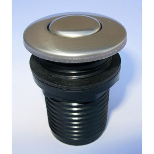 Samostatné pneutlačítko - Matný nerez