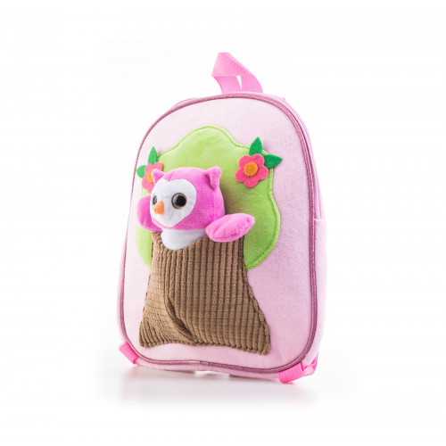 Batoh G21 s plyšovou sovičkou, růžový