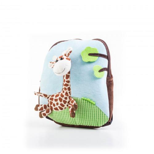 Batoh G21 s plyšovou žirafou, modrý
