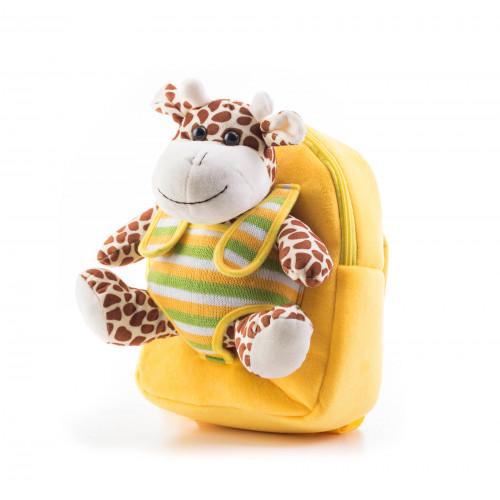 Batoh G21 s plyšovou žirafou, žlutý