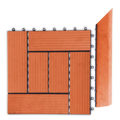 Přechodová lišta G21 třešeň pro WPC dlaždice, 38,5 x 7,5 cm rohová (pravá)