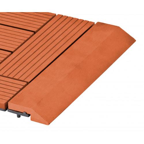 Přechodová lišta G21 třešeň pro WPC dlaždice, 30 x 7,5 cm rovná