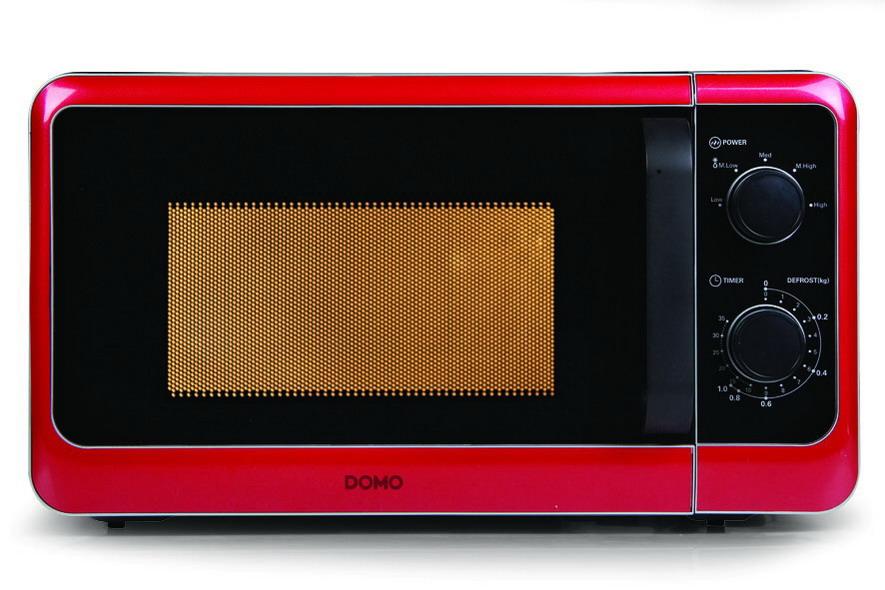Mikrovlnná trouba edice retro - DOMO DO2012, červená, 20l + doprava zdarma