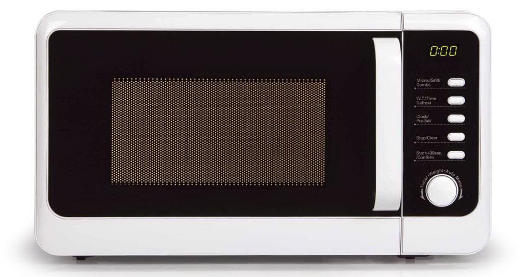 Mikrovlnná trouba s grilem edice retro - DOMO DO2013G, bílá, digitální, 20l + doprava zdarma