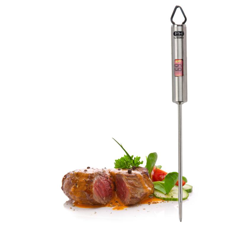 Steakový digitální teploměr - DO301CT, nerezový