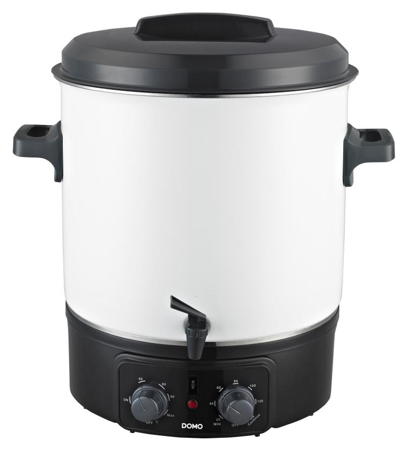 Zavařovací hrnec elektrický - smalt - DOMO DO322W, s časovačem a kohoutem + doprava zdarma