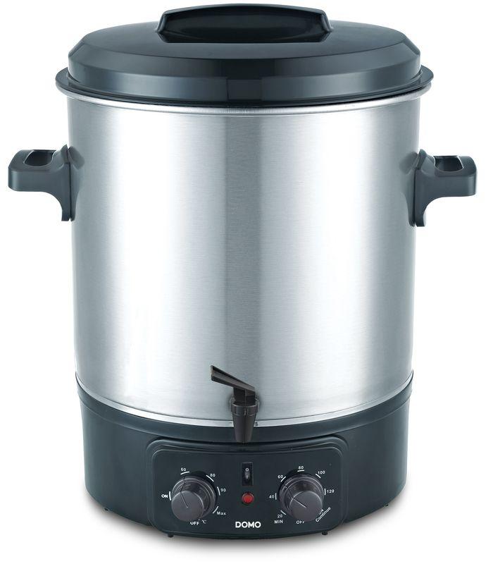 Zavařovací hrnec elektrický, nerez s kohoutem - DOMO DO323W, časovač, termostat + doprava zdarma