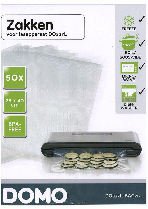 Sáčky do vakuové svářečky DOMO DO327L - velké, 28 x 40 cm, 50 ks, BPA free + doprava zdarma