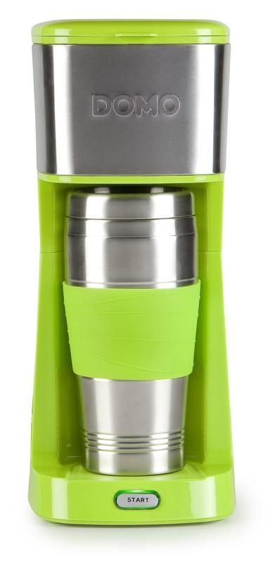 Kávovar s termohrnkem - zelený - DOMO DO440K, 400 ml, nerez + doprava zdarma