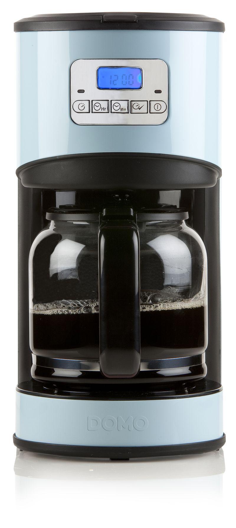 Moderní kávovar - překapávač - DOMO DO478KT, s časovačem, modrý + doprava zdarma