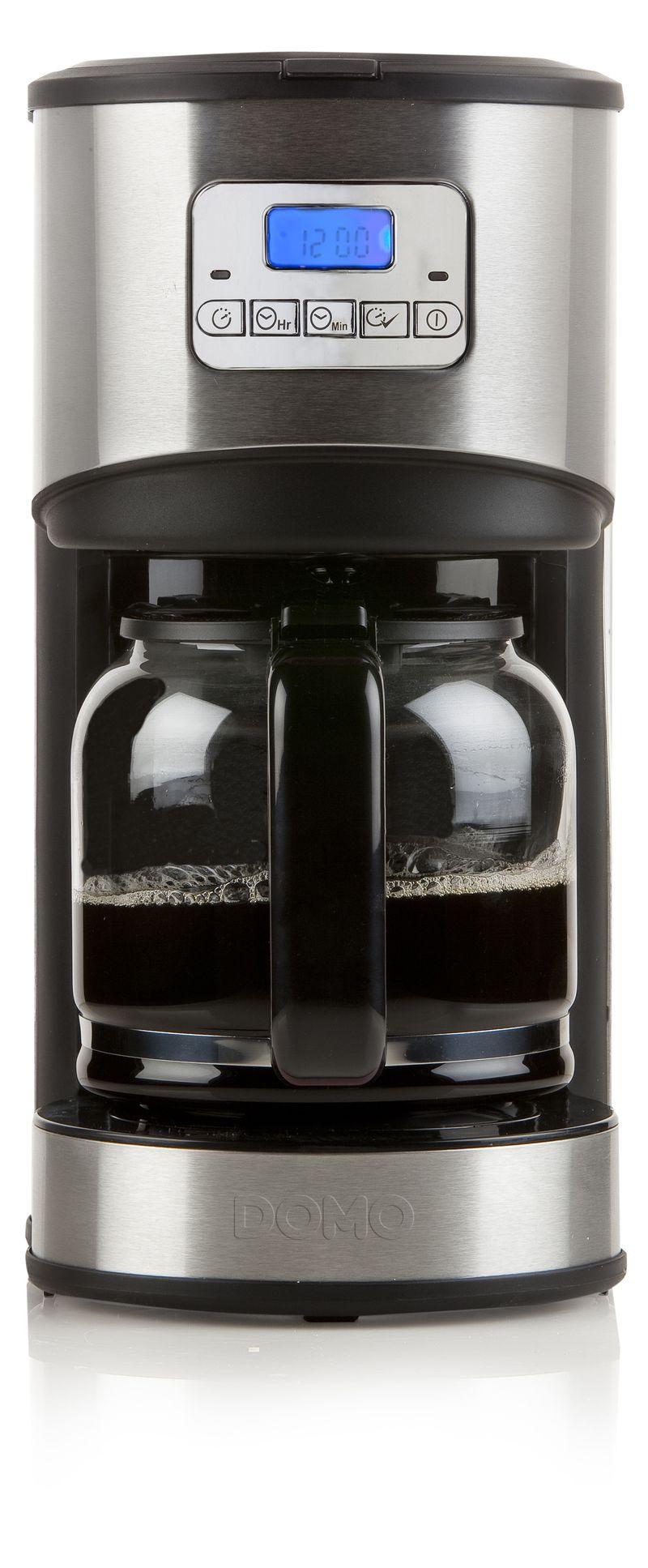 Moderní kávovar - překapávač - DOMO DO479KT, s časovačem, nerez + doprava zdarma