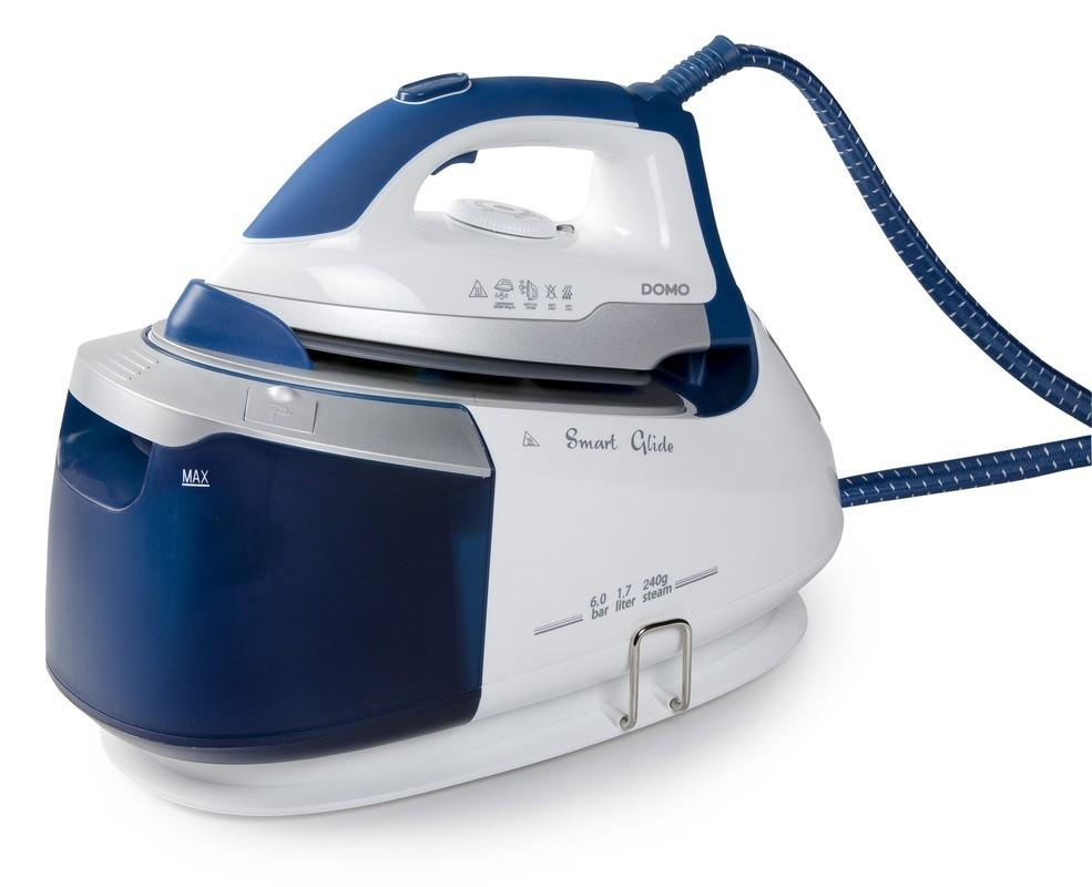 Žehlička s parním generátorem 6 bar - Smart Glide - DOMO DO7085S, koš na prádlo zdarma + doprava zdarma