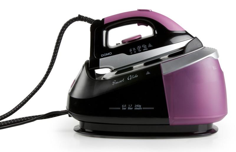 Žehlička s parním generátorem 6 bar - Smart Glide - DOMO DO7086S, koš na prádlo zdarma + doprava zdarma