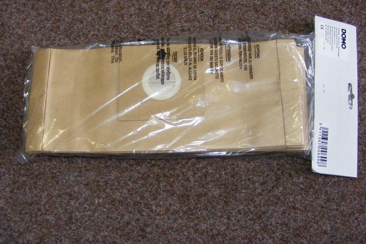 Sáčky pro vysavače DOMO - dlouhé (34,5 cm), 10 ks, papírové