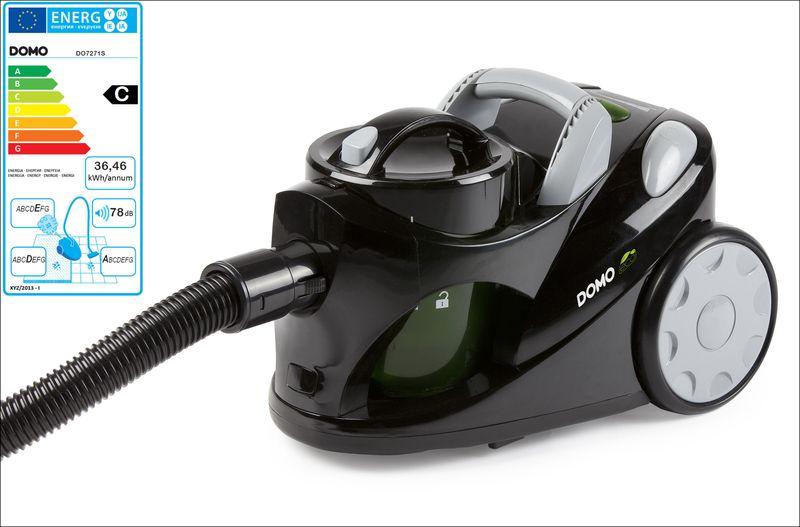 Bezsáčkový vysavač 2000W Eco - DOMO DO7271S, černá metalíza, příkon: 1000 W + doprava zdarma