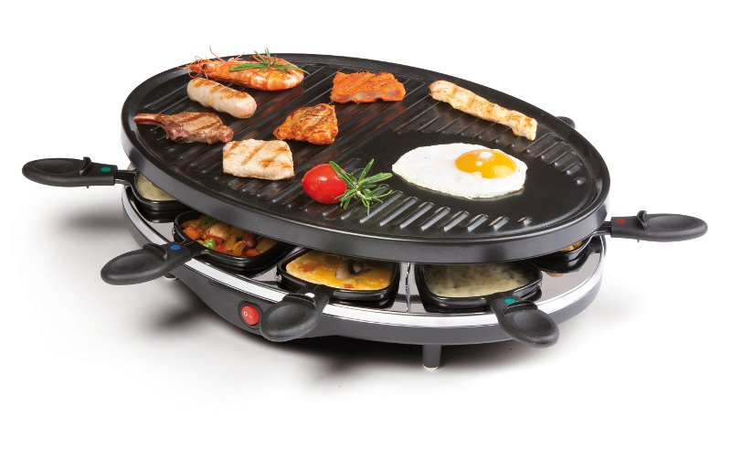 Raclette gril pro 8 osob - DOMO DO 9038 G + doprava zdarma