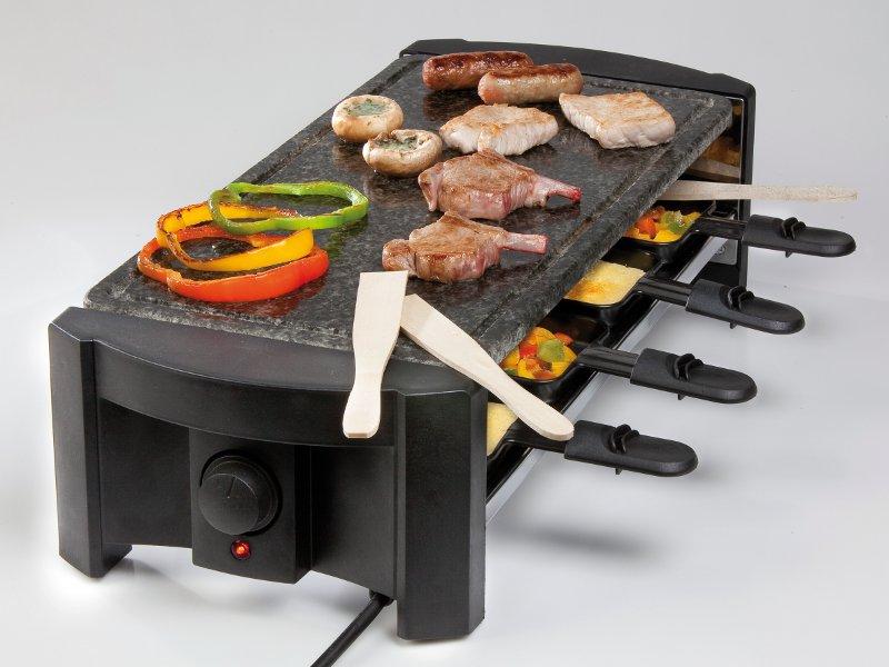 Raclette gril z přírodního kamene - DOMO DO 9039 G, pro 8 lidí + doprava zdarma