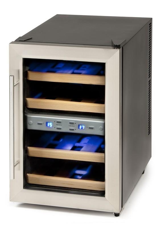 Dvouzónová termoelektrická vinotéka - DOMO DO909WK, 12 lahví + doprava zdarma