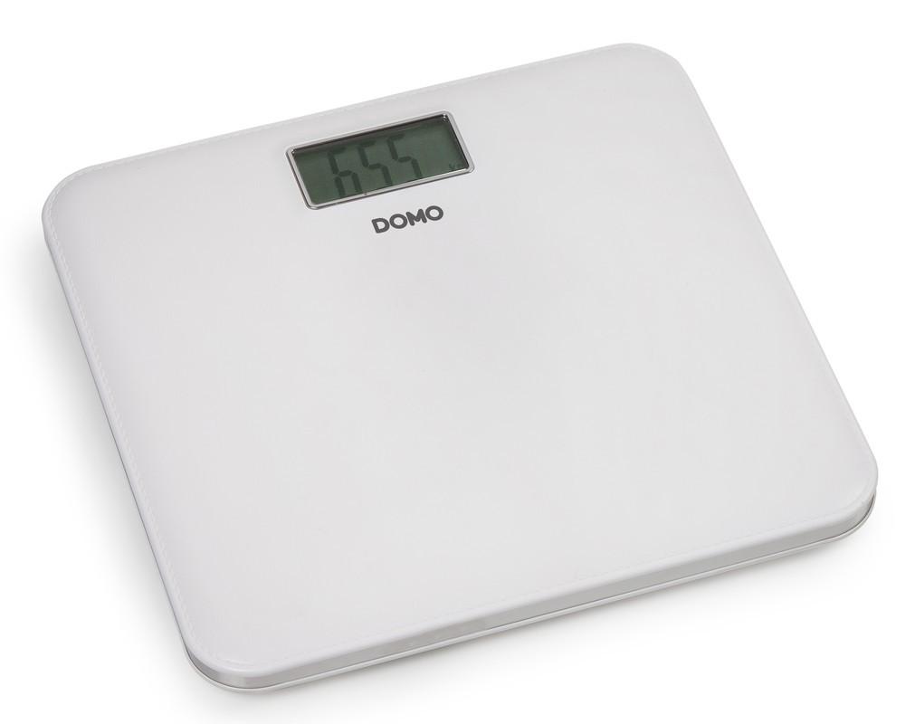 Osobní váha v kůži - bílá - DOMO DO9159W