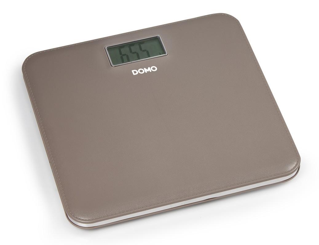 Osobní váha v kůži - hnědá - DOMO DO9160W