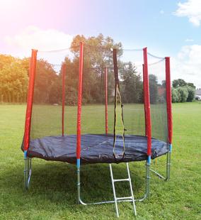 GoodJump GoodJump 4UPVC červená trampolína 305 cm s ochrannou sítí + žebřík