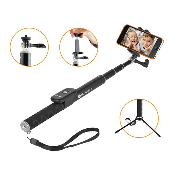 Selfie tyč GoGEN 4 teleskopická, bluetooth, černá + doprava zdarma