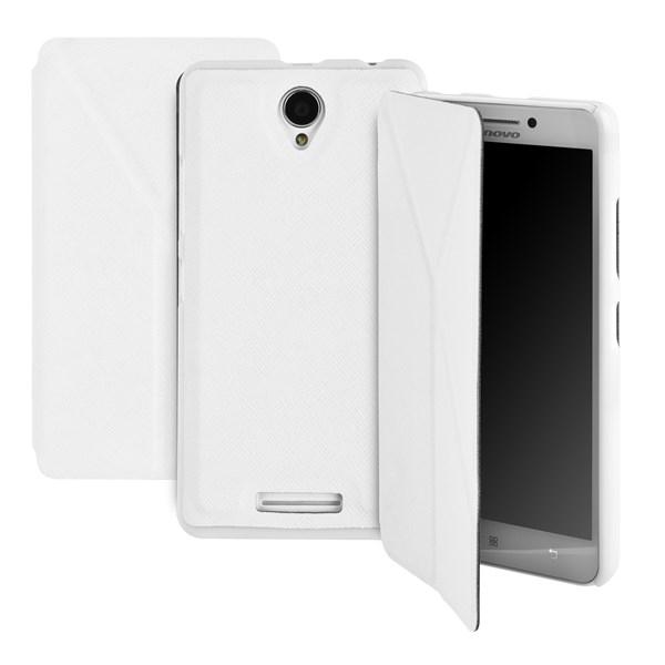 Pouzdro na mobil GoGEN pro Lenovo A5000 - bílá barva