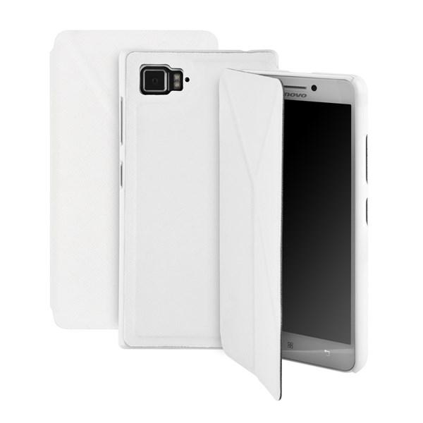 Pouzdro na mobil GoGEN pro Lenovo VIBE Z2 - bílá barva