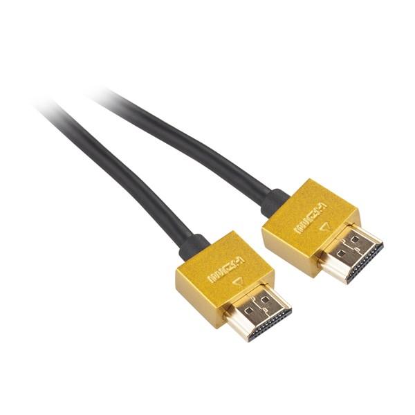 Kabel GoGEN HDMI 1.4 high speed, ethernet, M/M, 5m, pozlacený, černá barva