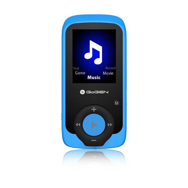 MP3/MP4 přehrávač GoGEN MAXI MP3, 4GB modrý + doprava zdarma