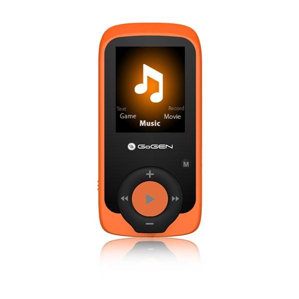 MP3/MP4 přehrávač GoGEN MAXI MP3, 4GB oranžový + doprava zdarma