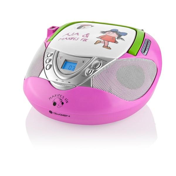 Radiopřijímač s CD GoGEN MAXI RADIO P, CD/MP3/USB, růžový + doprava zdarma