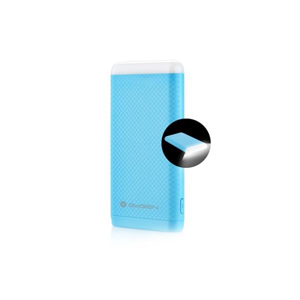Power Bank GoGEN 8000 mAh, svítilna modrá + doprava zdarma