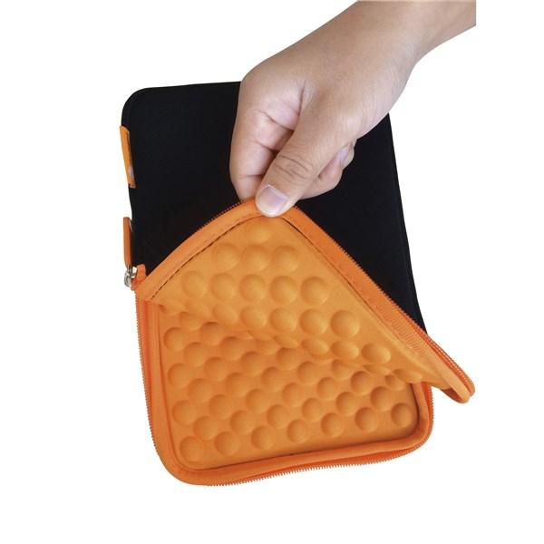 """Pouzdro na tablet GoGEN neoprenové pro 10,1"""" s bublinkami - černé/oranžové"""