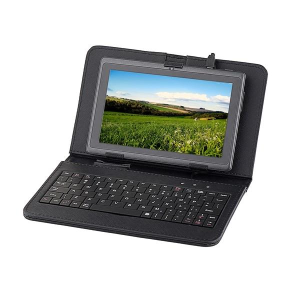 """Pouzdro na tablet GoGEN polohovací se zabudovanou klávesnicí - univerzal 7"""" - černé"""