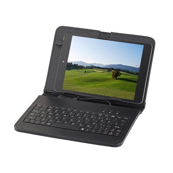 """Pouzdro na tablet GoGEN polohovací se zabudovanou klávesnicí - univerzal 7,85"""" - černé"""