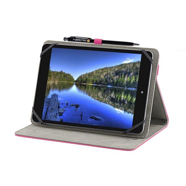 """Pouzdro na tablet GoGEN polohovací pro 7,85"""" + stylus - růžové"""