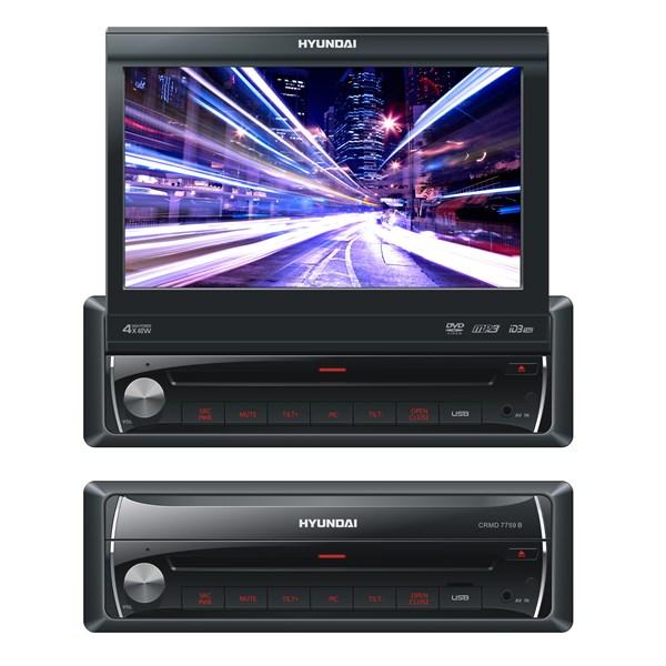 """Autorádio Hyundai CRMD 7759 B, DVD/MP3/USB/BLUETOOTH/7""""LCD, černá barva + doprava zdarma"""