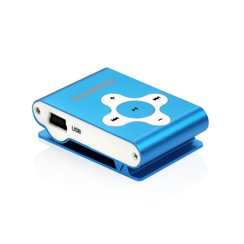 MP3 přehrávač Hyundai MP 212, micro SD slot, modrá