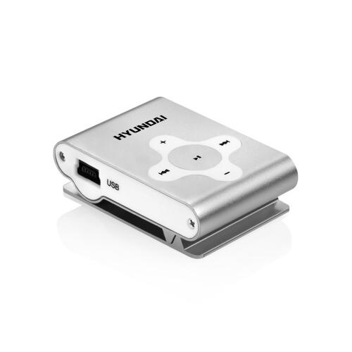 MP3 přehrávač Hyundai MP 212, micro SD slot, stříbrná