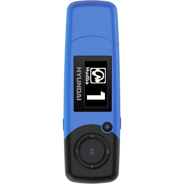 MP3 přehrávač Hyundai MP 366 FM, 4GB, modrá barva + doprava zdarma