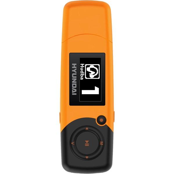 MP3 přehrávač Hyundai MP 366 FM, 8GB, oranžová barva + doprava zdarma