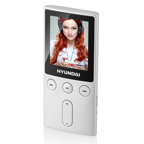 """Přehrávač MP3/MP4 Hyundai MPC 501 FM, 8GB, 1,8"""" displej, FM tuner, SD slot, stříbrná barva + doprava zdarma"""