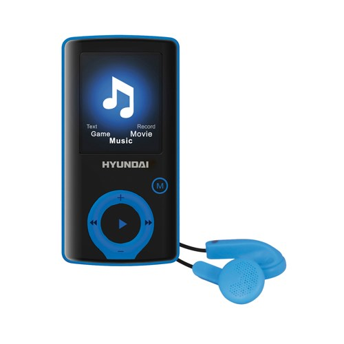 Přehrávač MP3/MP4 Hyundai MPC 883 FM, 16GB, černá barva - modrý proužek + doprava zdarma