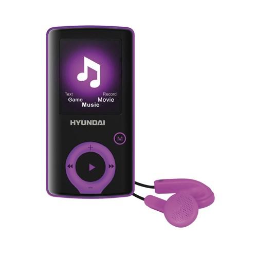 Přehrávač MP3/MP4 Hyundai MPC 883 FM, 16GB, černá barva - fialový proužek + doprava zdarma